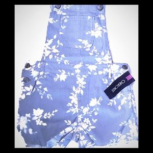 L  Cherokee Girls Shorts with Suspenders